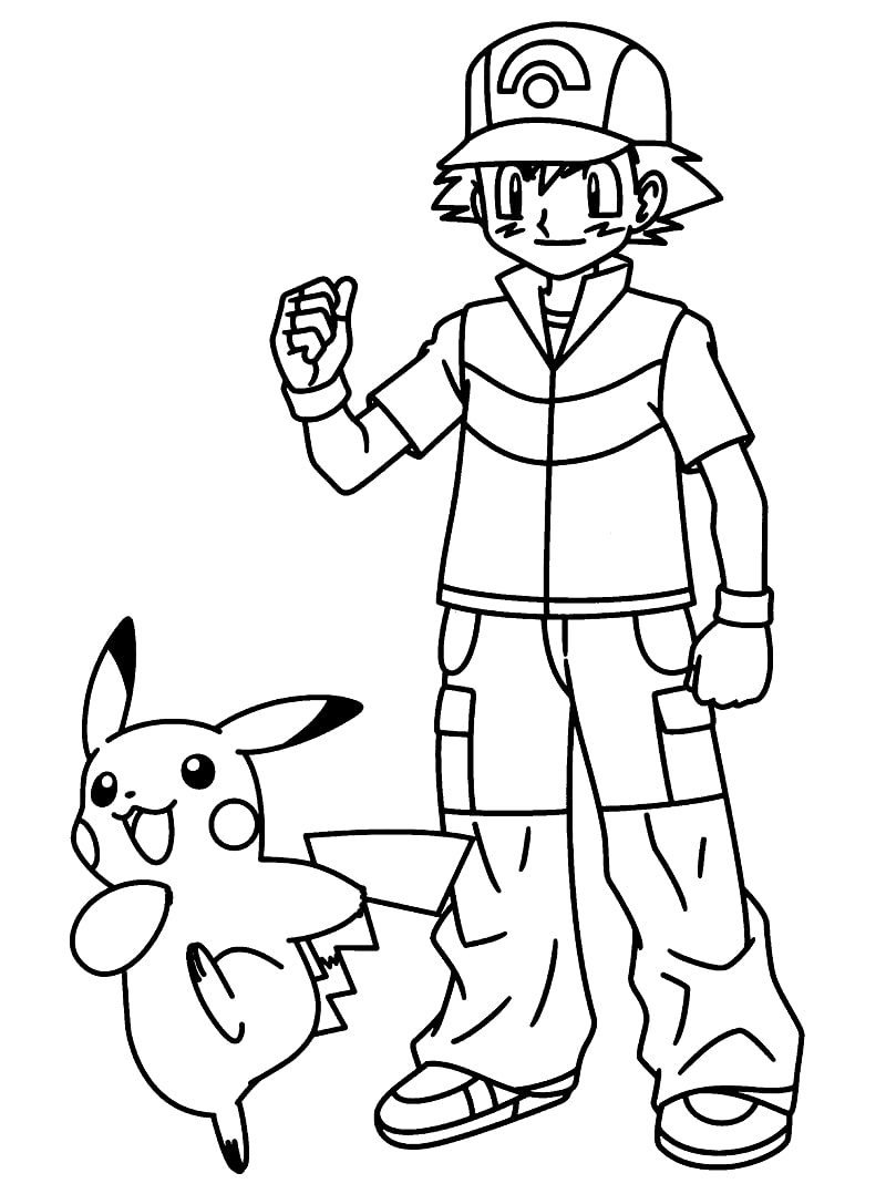 Ash Ketchum and Pikachu 2