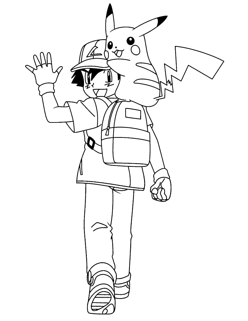 Ash Ketchum and Pikachu 3