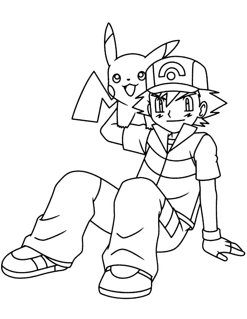 Ash Ketchum and Pikachu 5