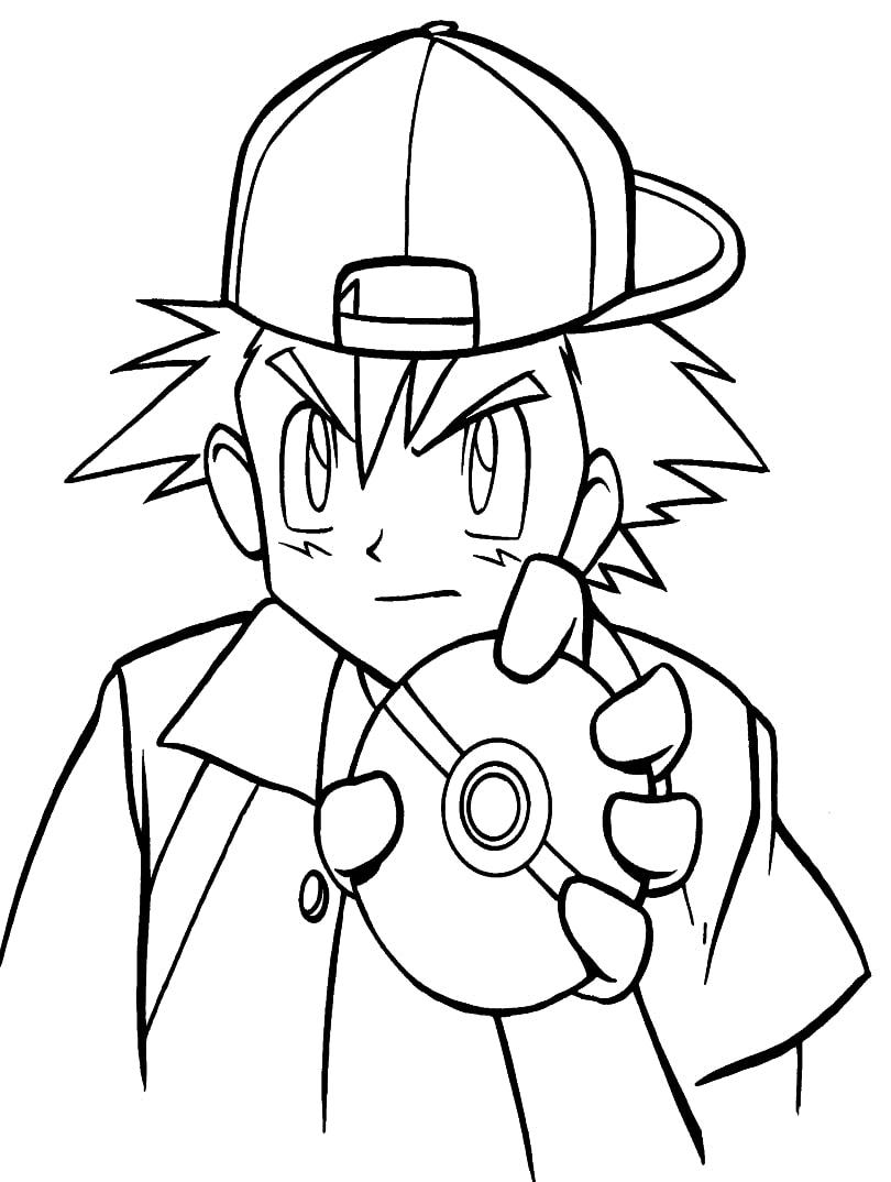 Ash Ketchum Holding Pokeball