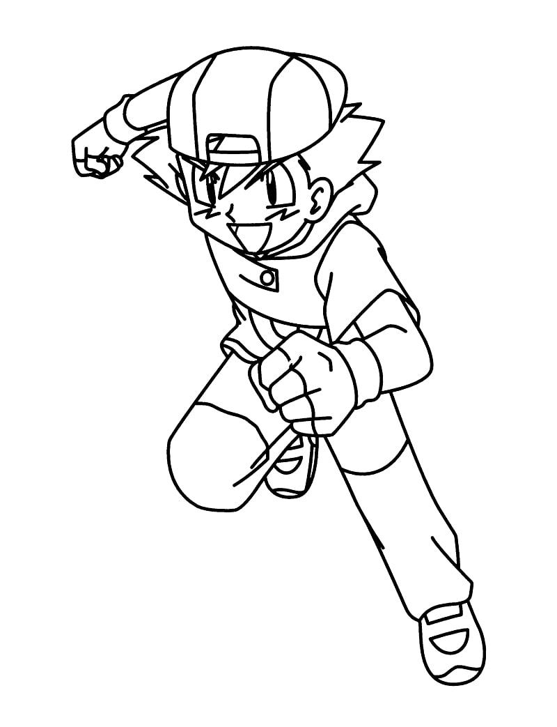 Ash Ketchum Running