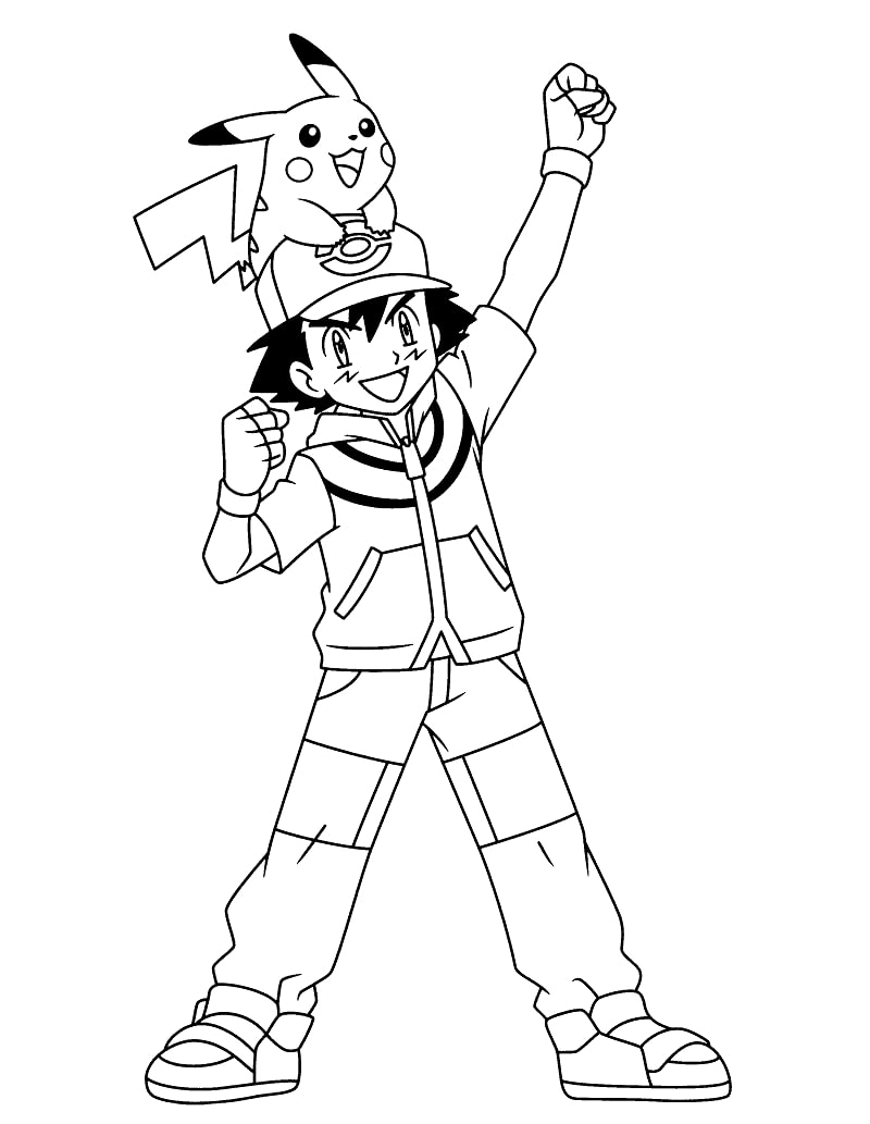 Ash Ketchum with Pikachu