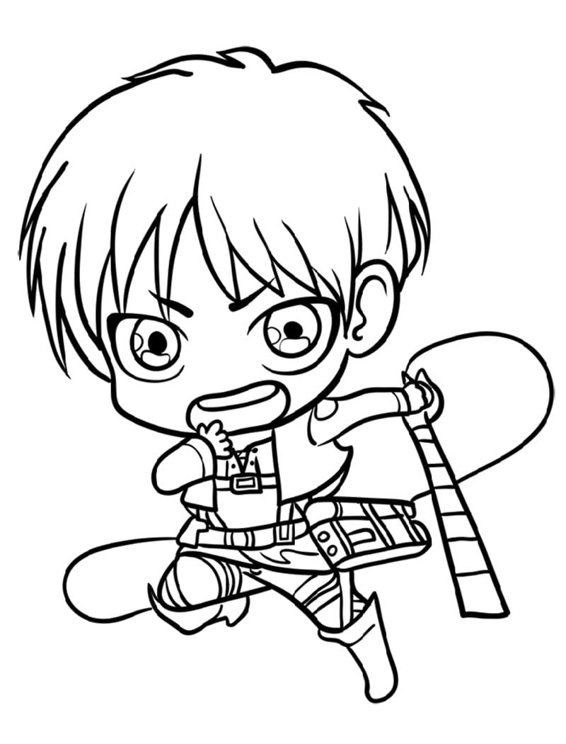 Baby Eren Yeager Running