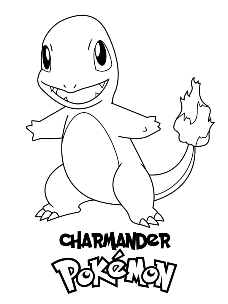 Printable Charmander Coloring Pages