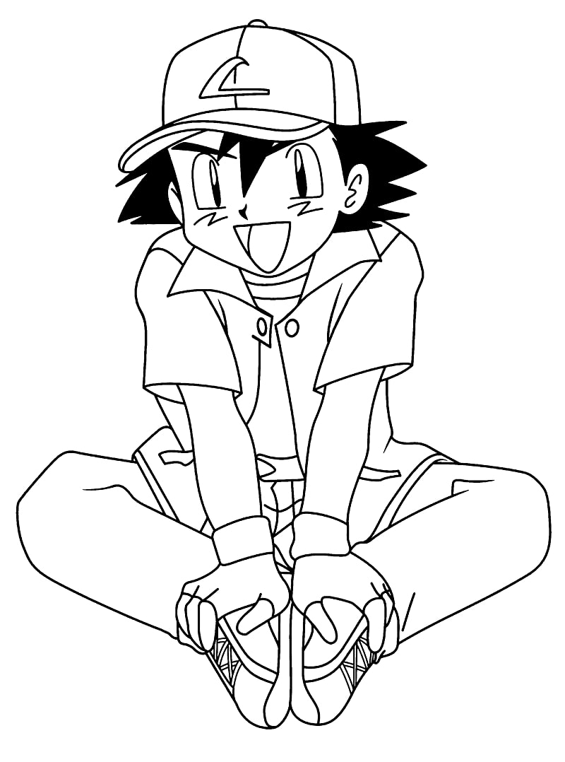 Printable Ash Ketchum Coloring Pages