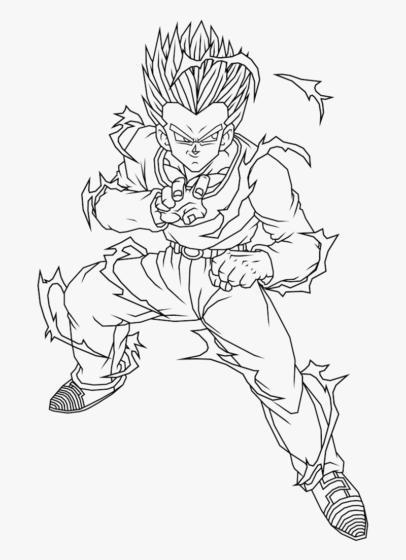 Printable Son Gohan Coloring Pages