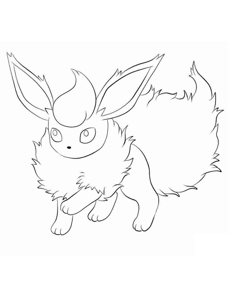 Printable Eevee Coloring Pages - Anime Coloring Pages