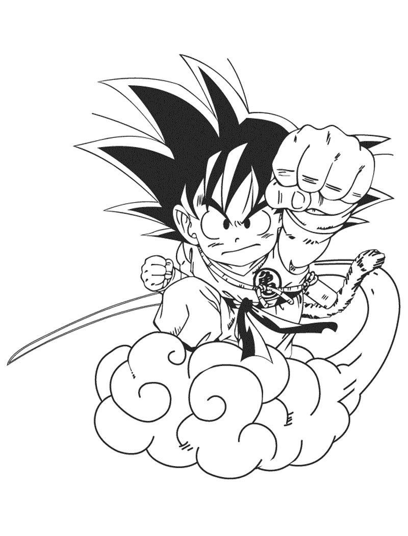 Goku on cloud