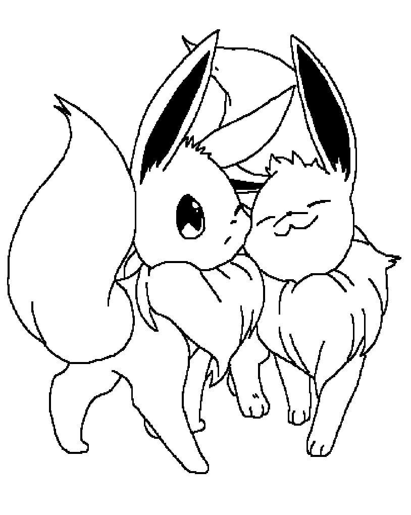 Printable Eevee Coloring Pages Anime Coloring Pages