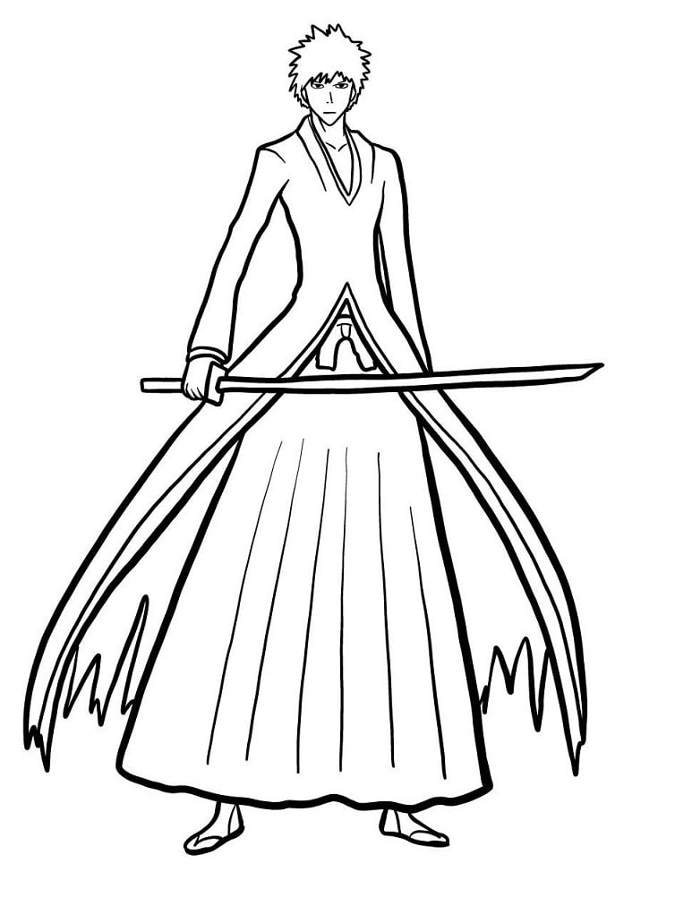 Printable Ichigo Coloring Pages