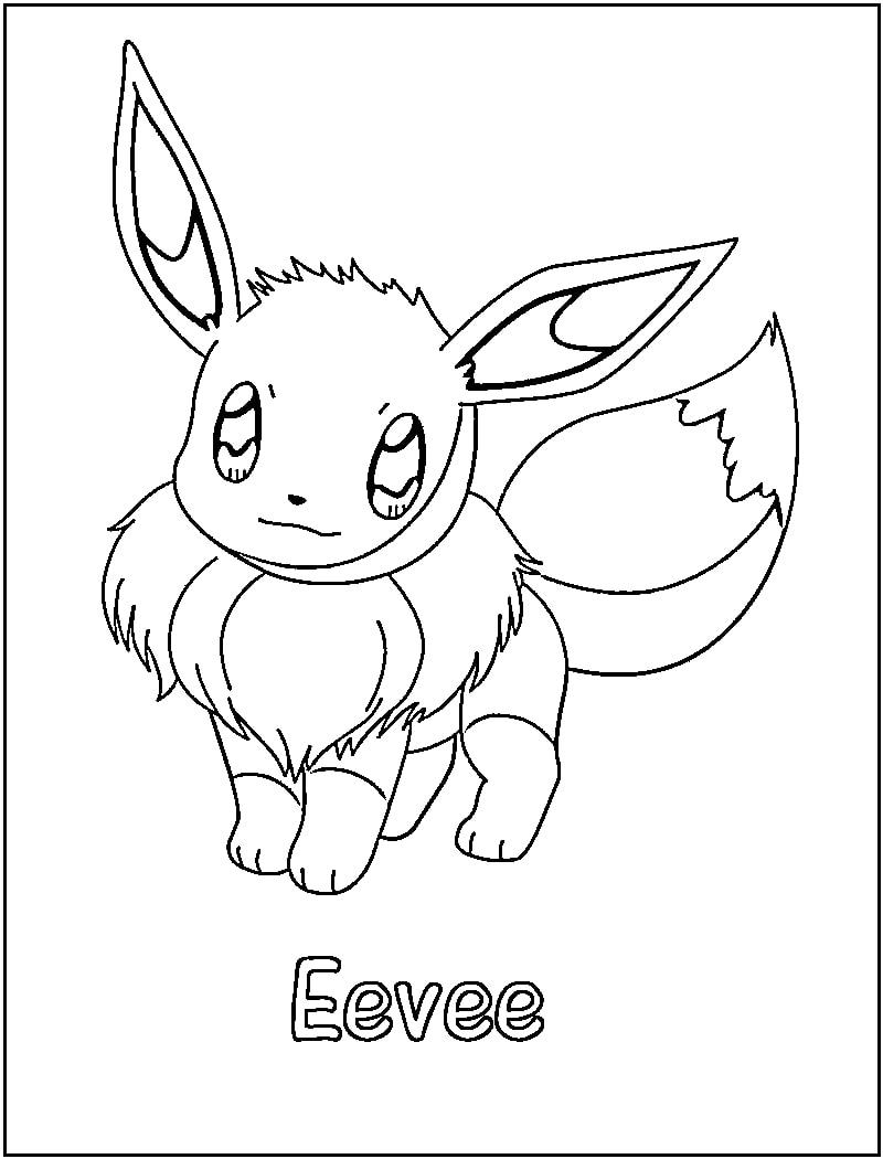 Printable Eevee Coloring Pages