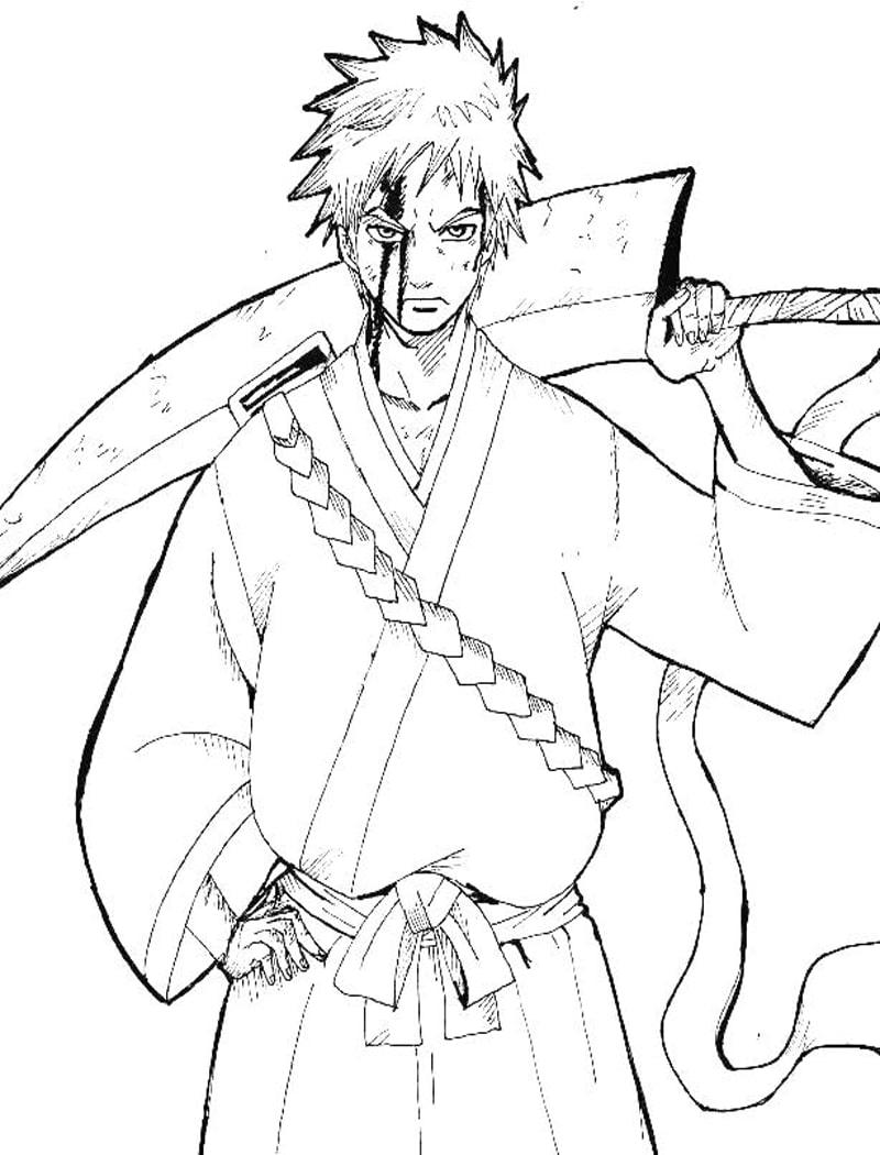 Ichigo Kurosaki Holding Sword