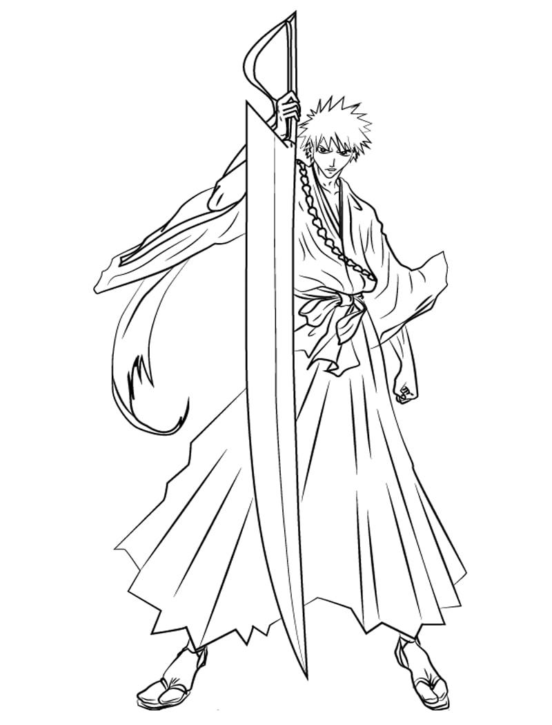 Ichigo Kurosaki with big sword
