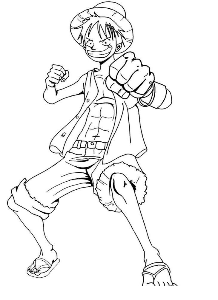 Printable Luffy Coloring Pages