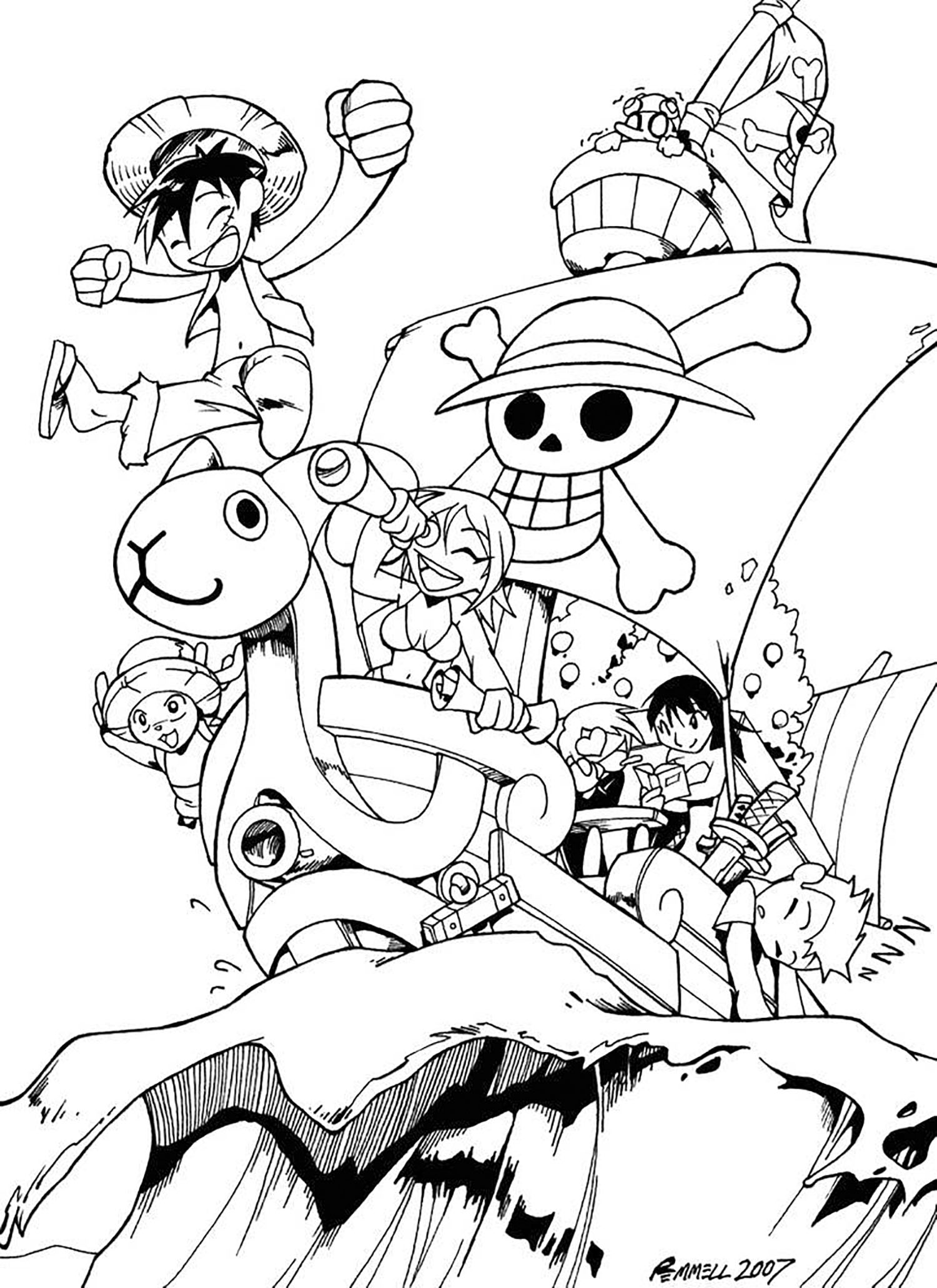 Luffy in One Piece 2