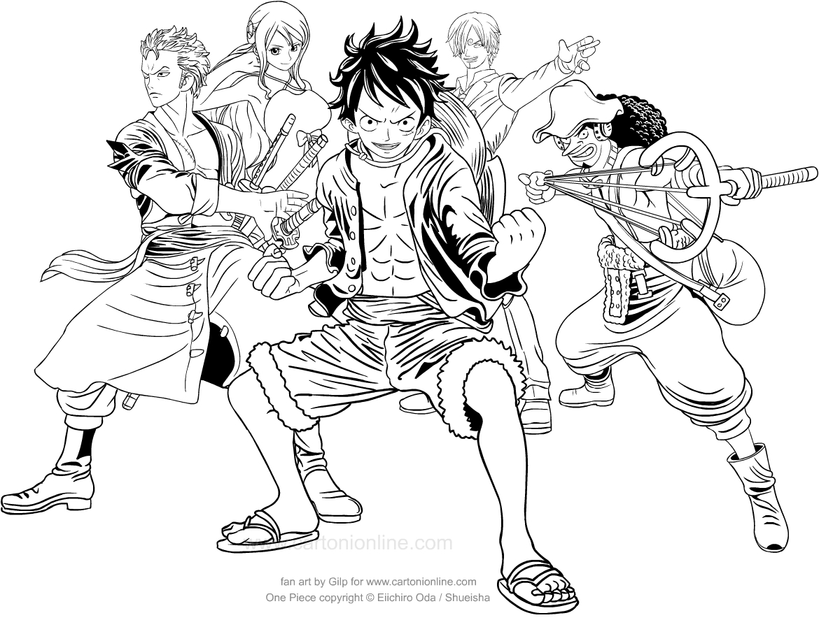 Luffy in One Piece 4