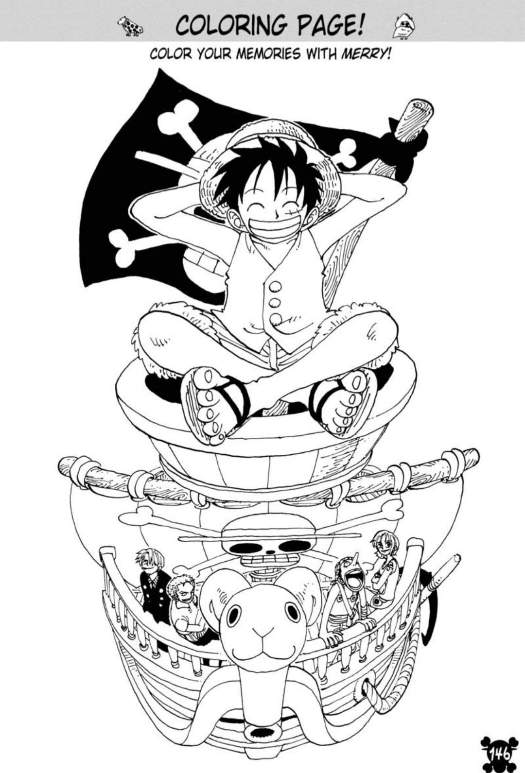Luffy with Turtle Boat