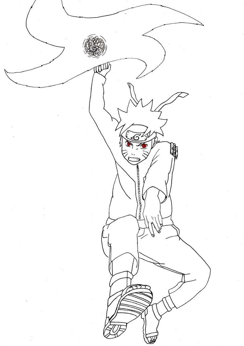 Naruto with his weapon