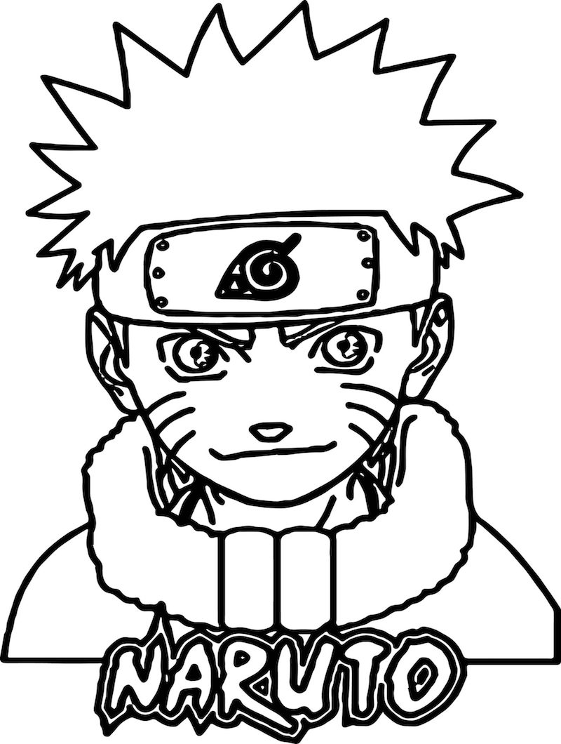 Top 20 Printable Naruto Coloring Pages