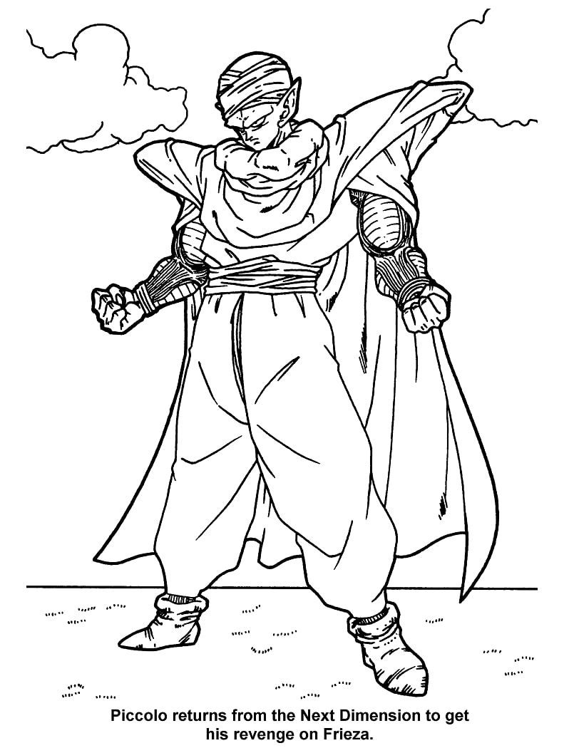 Printable Piccolo Coloring Pages
