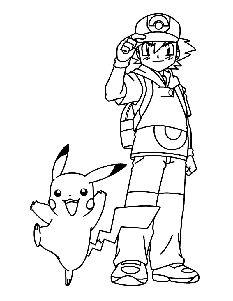 Pikachu and Ash Ketchum 2