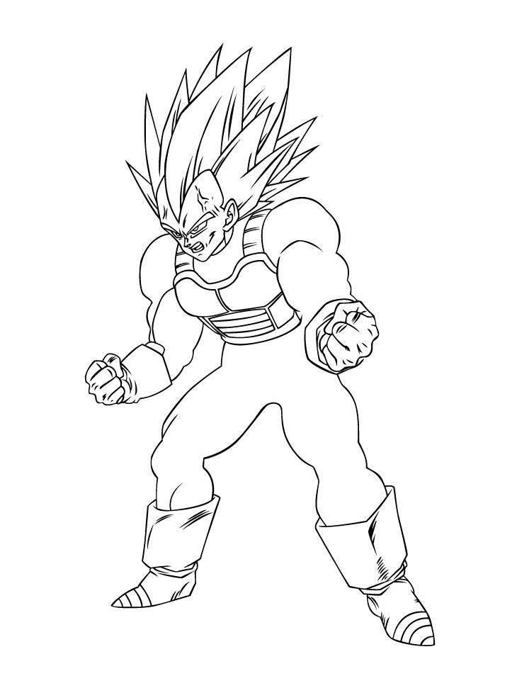 Powerful Vegeta in Dragon Ball Z
