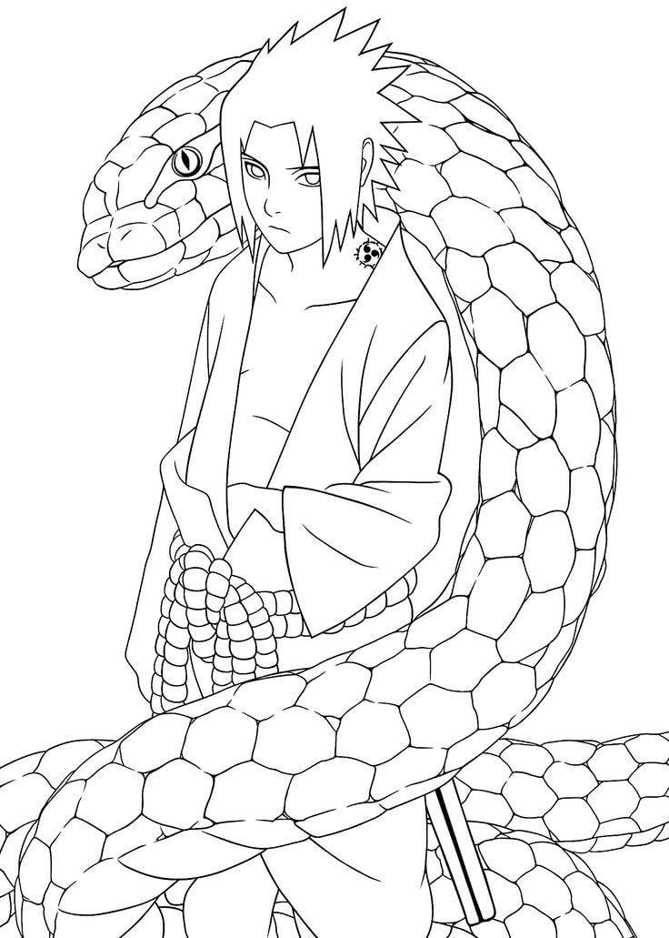 Sasuke Uchiha with a Python