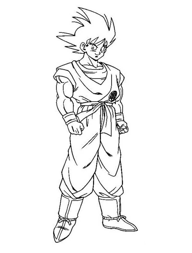 Printable Son Goku Coloring Page