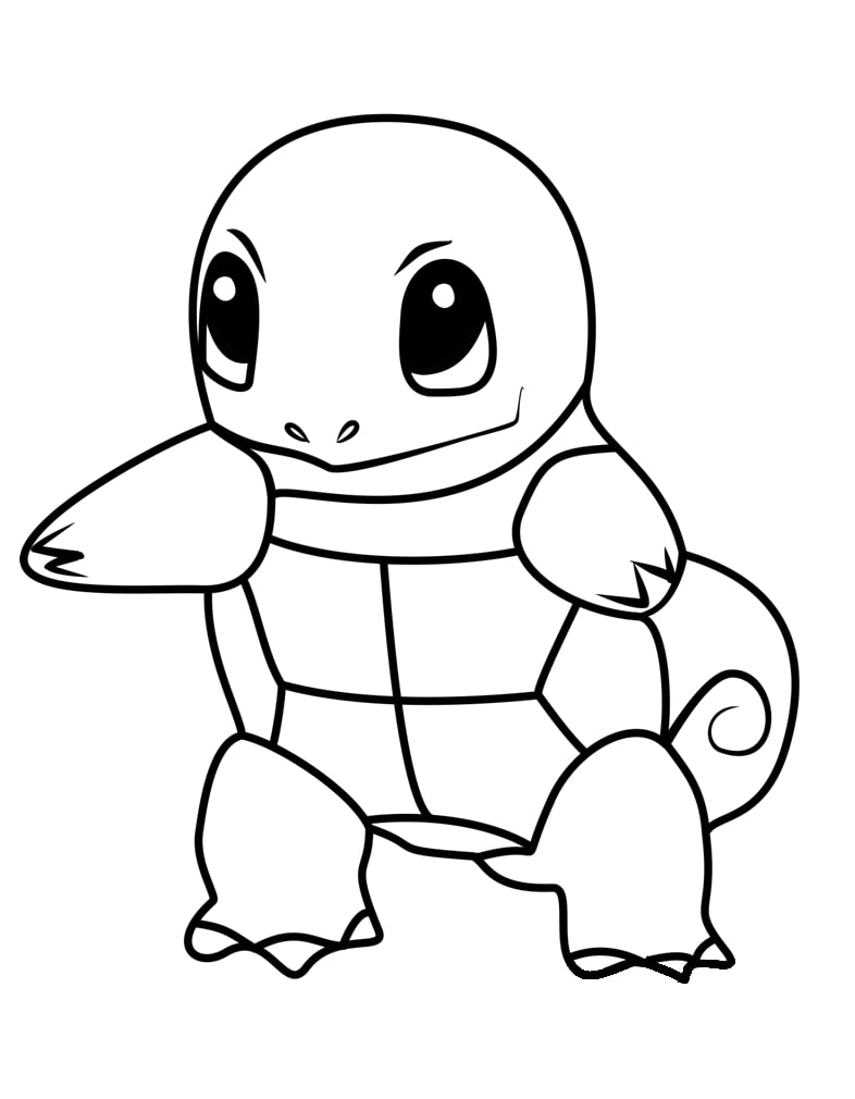 Printable Squirtle Coloring Pages Anime Coloring Pages