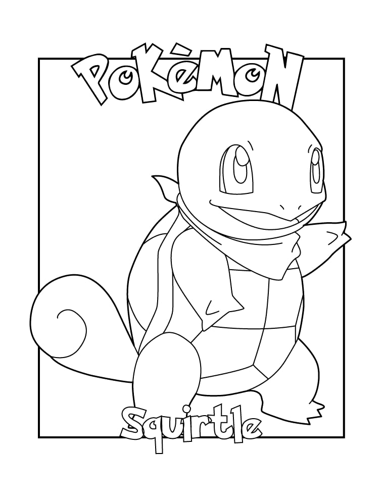 Printable Squirtle Coloring Pages