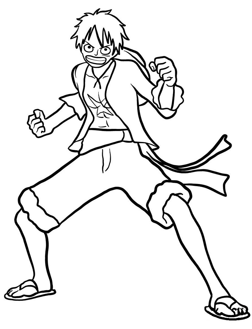 Strong Luffy in One Piece