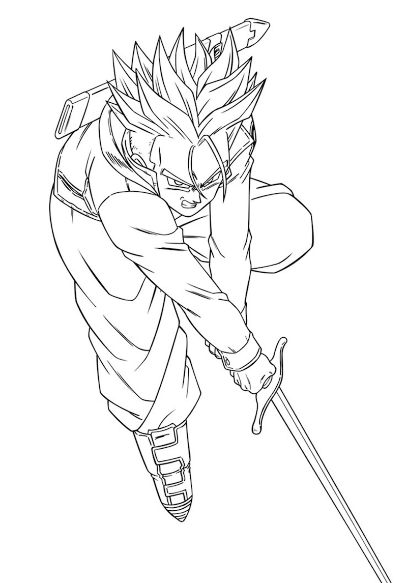 Trunks with his sword