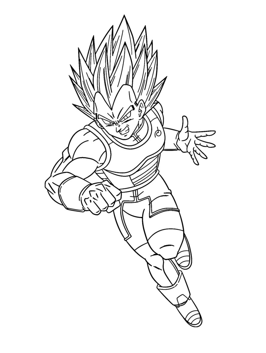 Printable Vegeta Coloring Pages