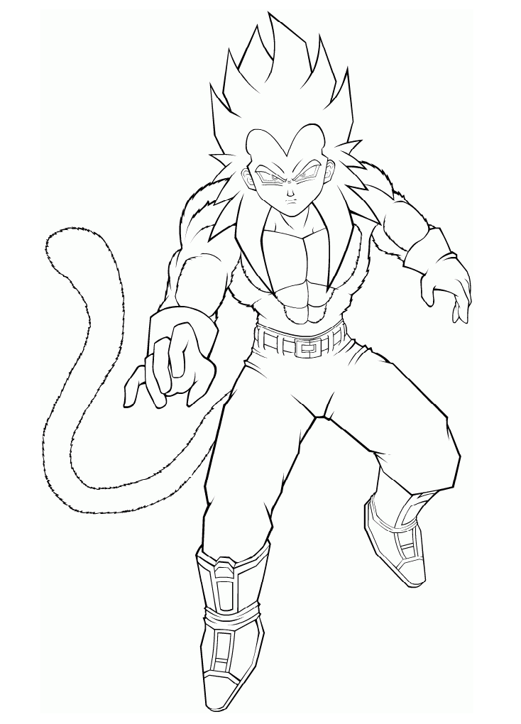 Vegeta with a long tail