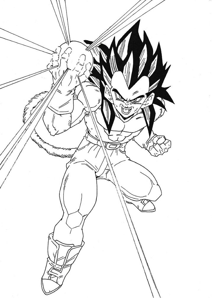 Vegeta with his weapon
