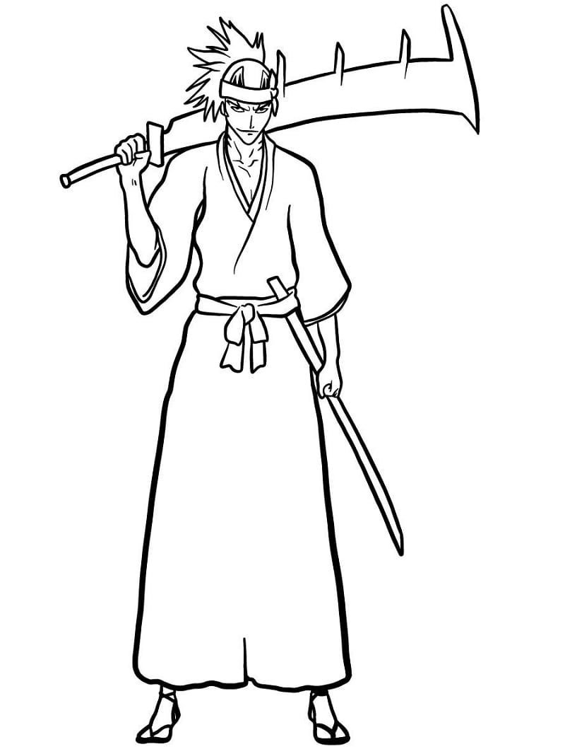 Printable Abarai Renji Coloring Pages