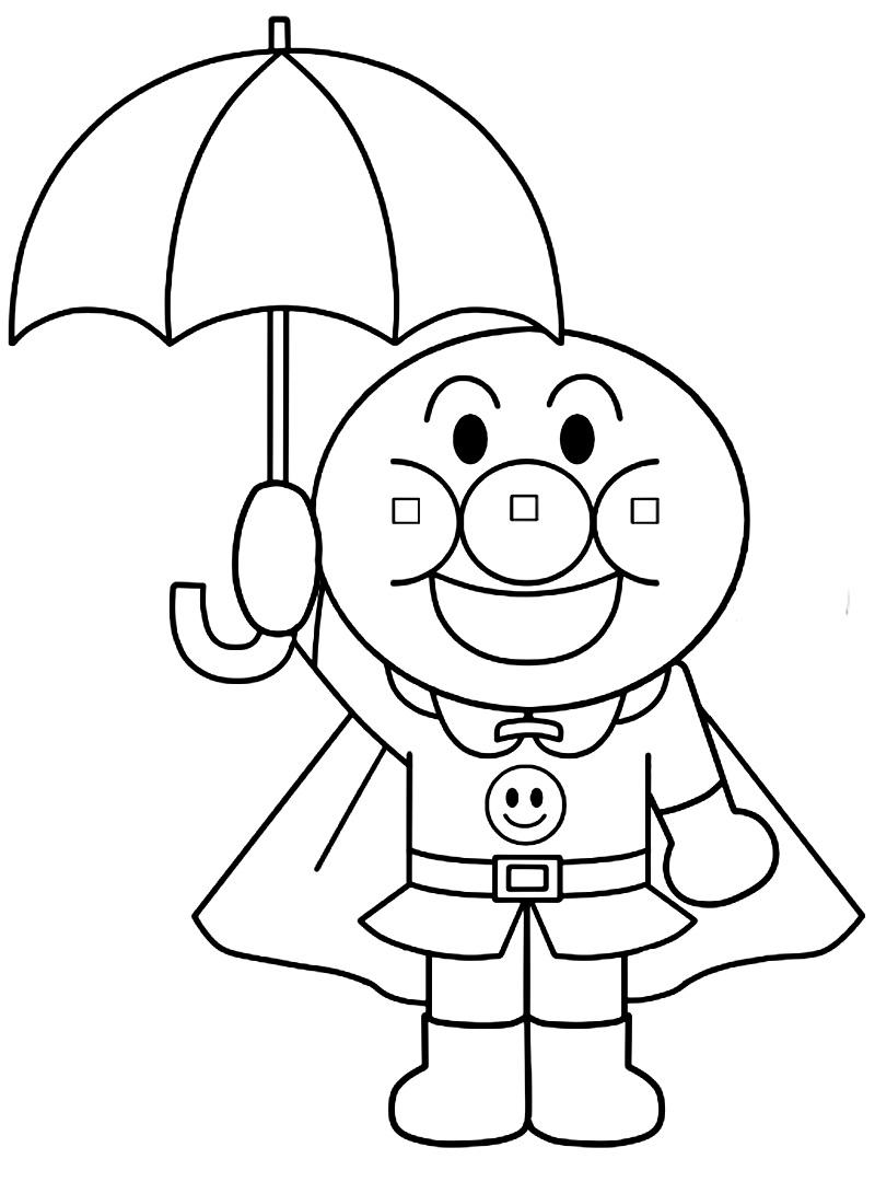 Anpanman with Umbrella