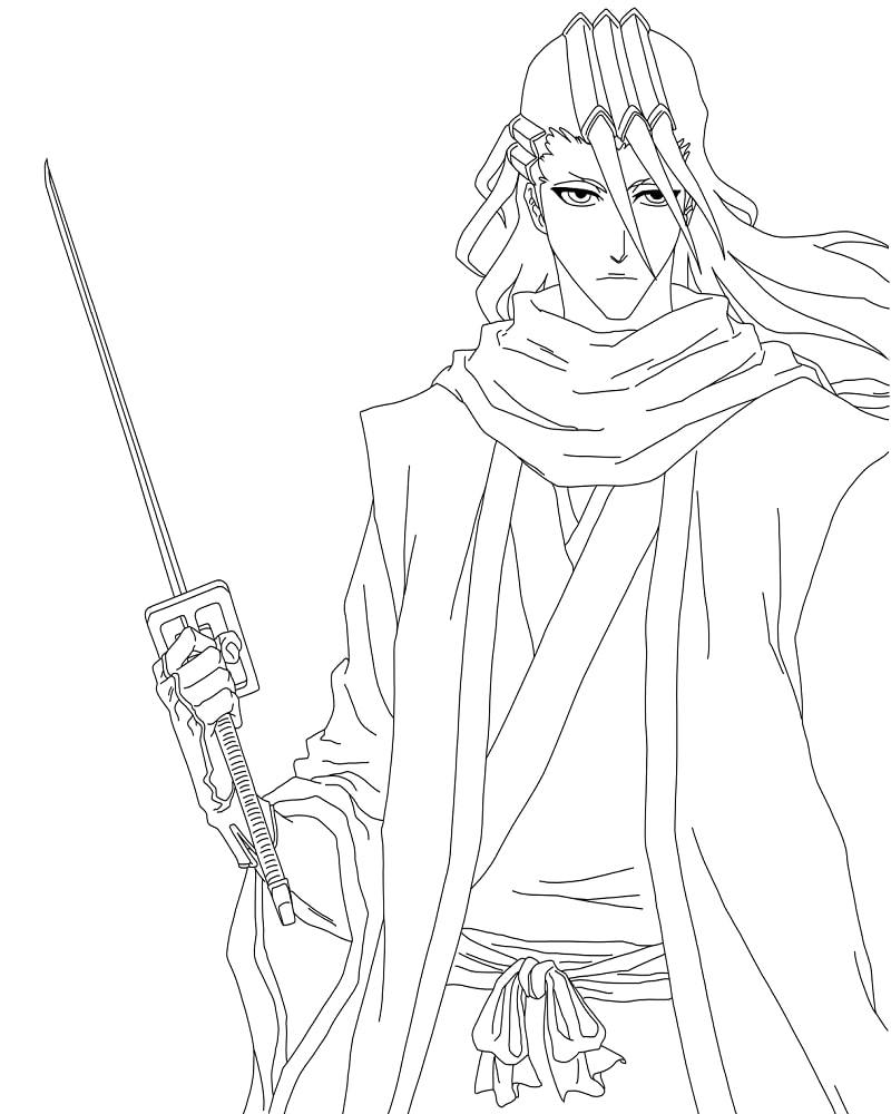 Printable Byakuya Kuchiki Coloring Pages