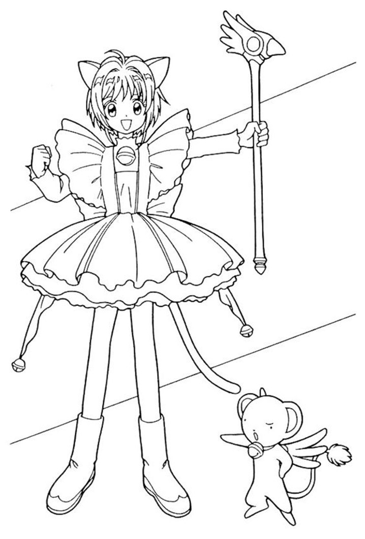 Printable Cardcaptor Sakura Coloring Pages