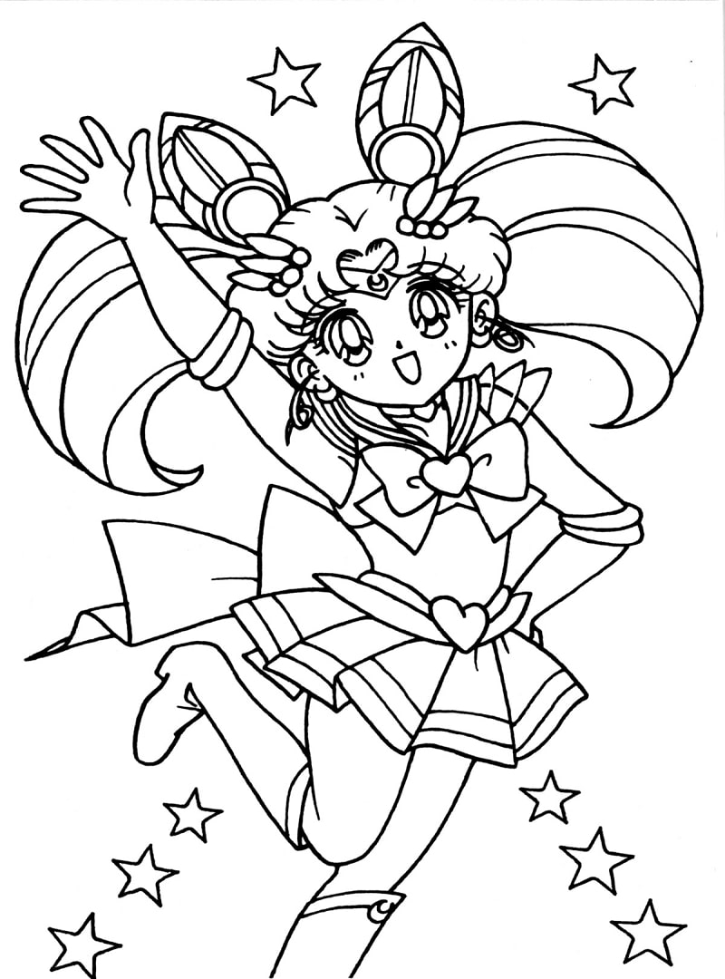Printable Chibiusa Coloring Pages