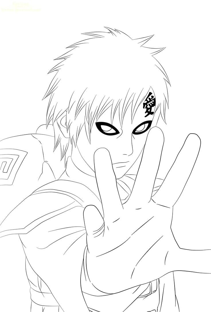 Gaara in Naruto