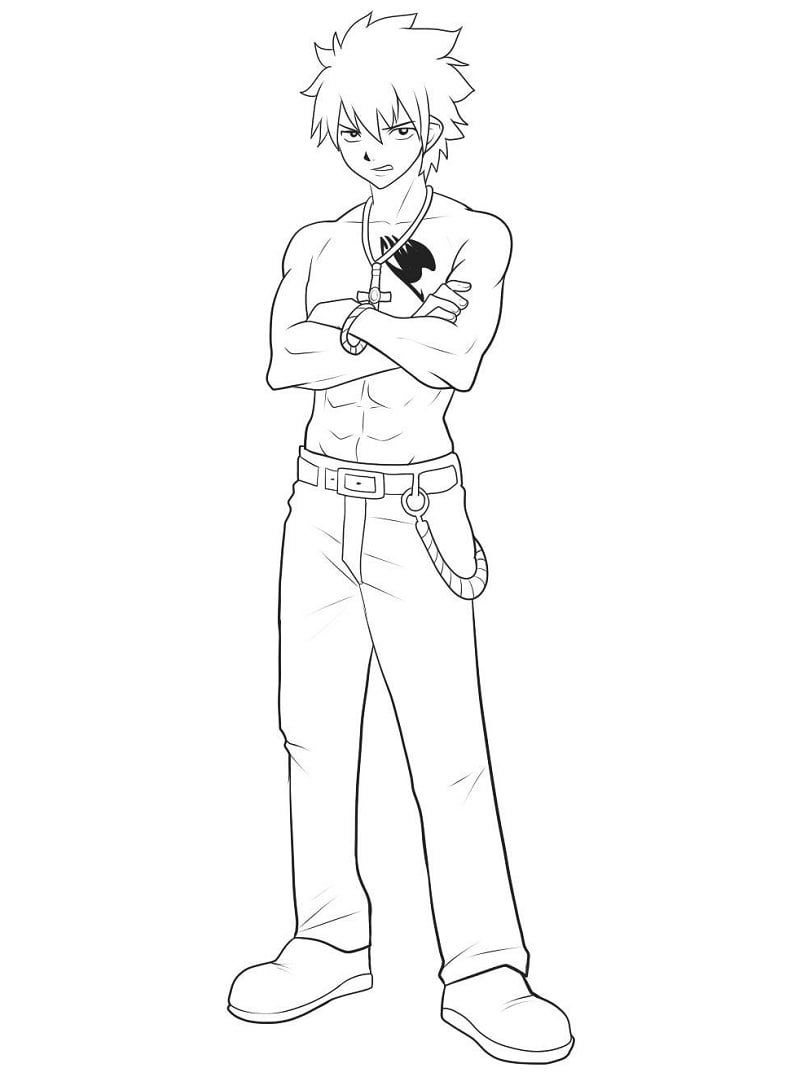 Printable Gray Fullbuster Coloring Pages