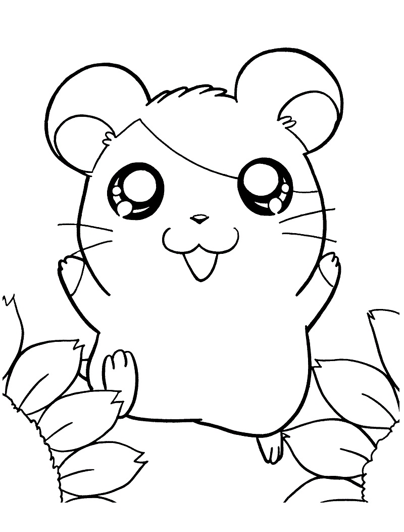 Printable Hamtaro Coloring Pages
