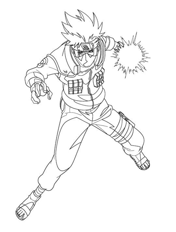 Printable Hatake Kakashi Coloring Pages Anime Coloring Pages
