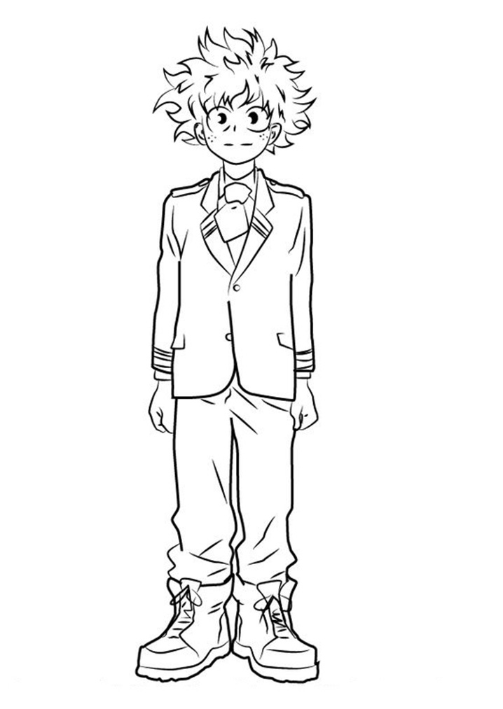 Printable Izuku Midoriya Coloring Pages - Anime Coloring Pages