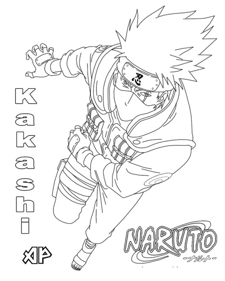 Printable Hatake Kakashi Coloring Pages