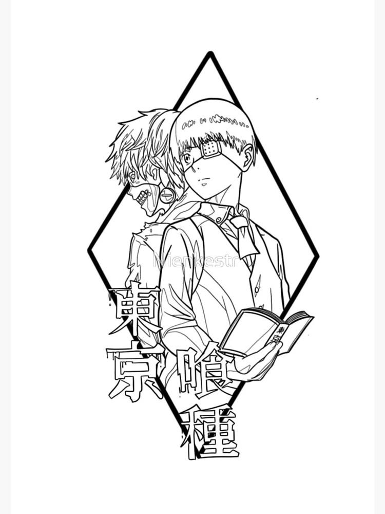 Printable Kaneki Ken Coloring Pages