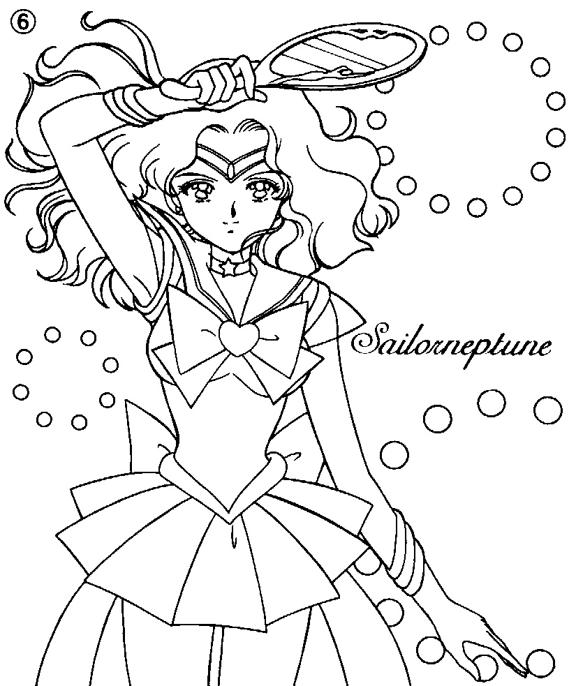 Printable Michiru Kaiou Coloring Pages