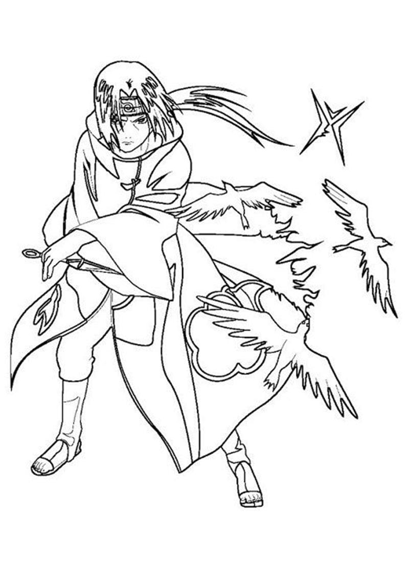 Naruto Itachi Uchiha with Birds