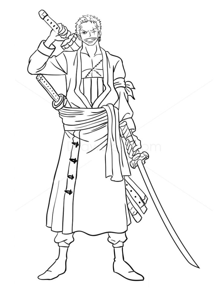 Roronoa Zoro Holding Sword